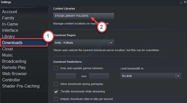 steam not recognizing installed game on external hard drive