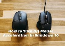 how to disable mouse acceleration in windows