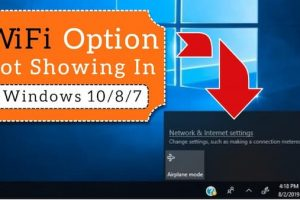 wifi not showing up windows 10
