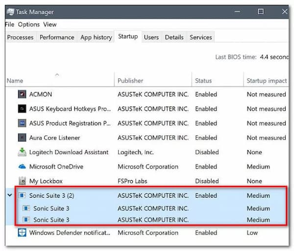 ss3svc64.exe on startup windows 10