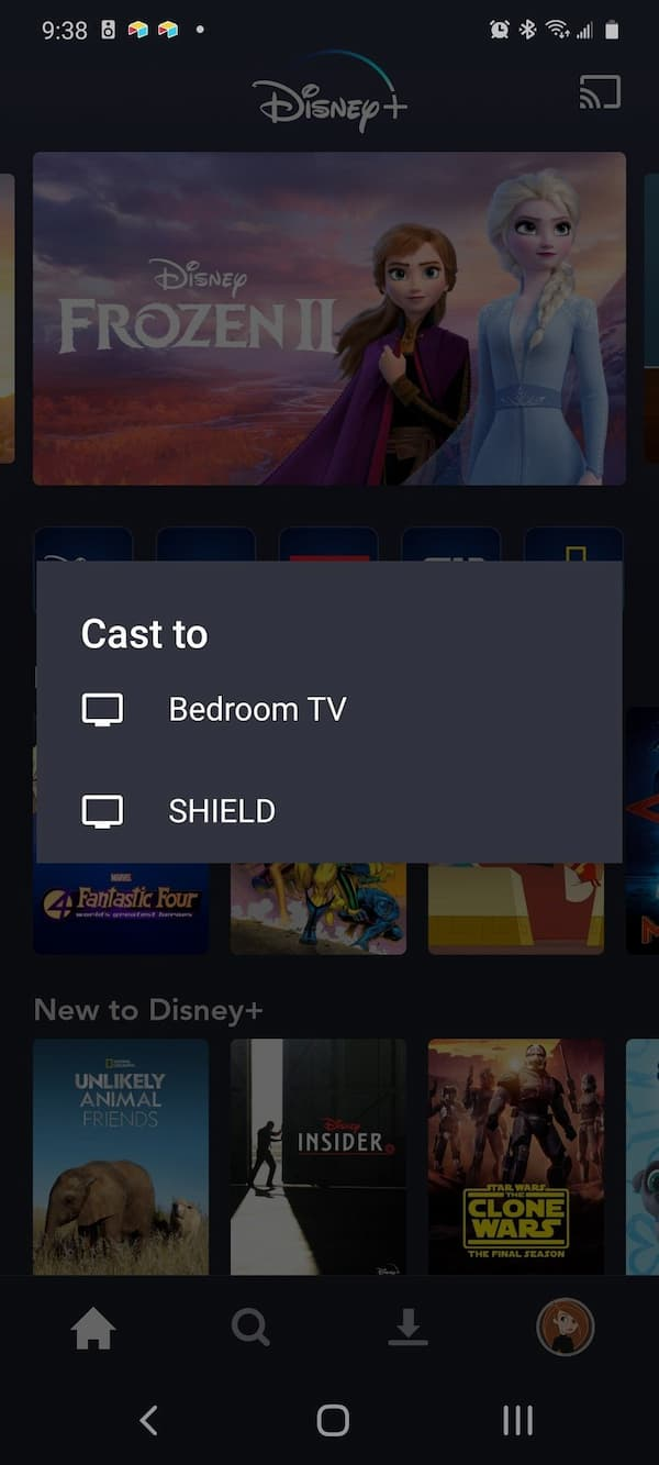 disney is not available on this chromecast device