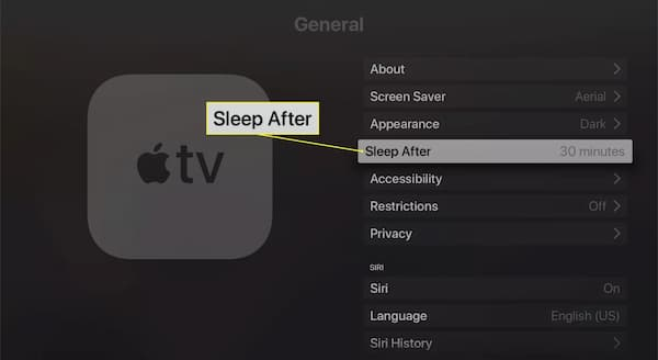 how to turn off apple tv voice