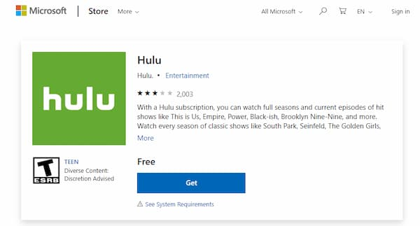 what does error code 504 mean on hulu