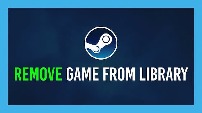 how to remove game from steam library